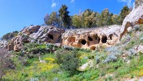Byzantine village, Calascibetta Royalty Free Stock Images