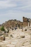 Byzantine Walls and North Byzantine Gate in Hierapolis, Denizli Royalty Free Stock Photos