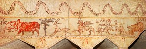 Byzantinefresco royaltyfria bilder