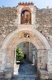 Byzantinisches Kloster Mystras Stockfotos