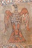 Byzantinisches Mosaik eines Adlers und der Taube Stockfotografie