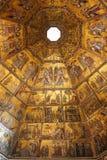 Byzantinisches Mosaik im Baptistery in Florenz Stockbild