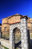 Byzantium church of St. Sofia in Ohrid. Exterior view of the Byzantium church of St. Sofia in Ohrid town, Macedonia stock image