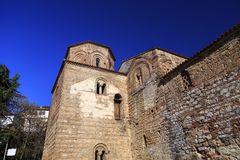 Byzantium church of St. Sofia in Ohrid. Exterior view of the Byzantium church of St. Sofia in Ohrid town, Macedonia royalty free stock photography
