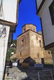 Byzantium church of St. Sofia in Ohrid. Ohrid, Macedonia - April 8, 2017: Exterior view of the Byzantium church of St. Sofia in Ohrid town, Macedonia royalty free stock photography