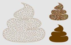 Bzdury siatki sieci trójboka i modela mozaiki Wektorowa ikona ilustracja wektor