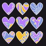 Bzu, pomarańcze i błękita serca kolekcja, Fotografia Royalty Free