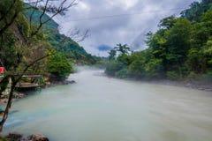 Bzyp flod, Abchazien Arkivfoton