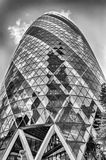 30 bâtiment de cornichon de St Mary Axe aka, Londres Images libres de droits