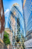 30 bâtiment de cornichon de St Mary Axe aka, Londres Images stock