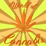 Cáñamo del cáñamo de la marijuana sativa o cáñamo indica libre illustration