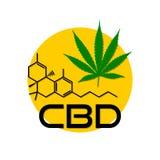 Cáñamo del icono de la fórmula CBD, logotipo libre illustration