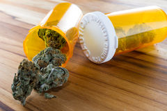 Cáñamo o marijuana medicinal imagenes de archivo