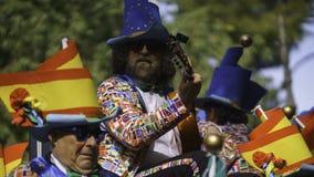 Cádiz, Andalucía, España; 12 de febrero de 2018: Celebración del carnaval de Cádiz Fotos de archivo libres de regalías
