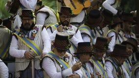 Cádiz, Andalucía, España; 12 de febrero de 2018: Celebración del carnaval de Cádiz Imagen de archivo libre de regalías