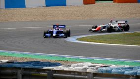 CÁDIZ - 28 DE MAYO: Fórmula V8 3 de la serie de mundo 5 en Jerez de la Front almacen de metraje de vídeo