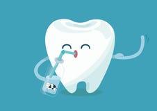 Cálcio para o dente ilustração do vetor