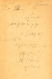 Cálculo Fotografía de archivo