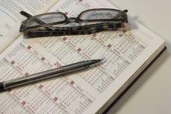 Cálculo de dias no calendário Imagem de Stock Royalty Free