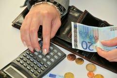 Cálculo de financeiro Fotografia de Stock
