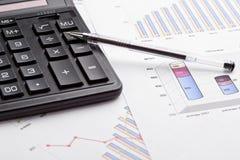 Cálculo de finanzas imagen de archivo libre de regalías