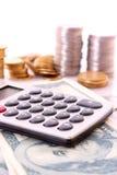 Cálculo de las finanzas imágenes de archivo libres de regalías