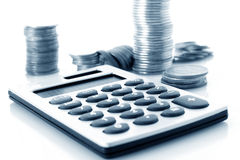 Cálculo de las finanzas fotografía de archivo libre de regalías