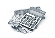 Cálculo de las finanzas fotografía de archivo