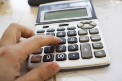 Cálculo de los impuestos Imagen de archivo libre de regalías