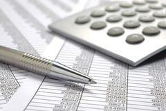 Cálculo de negócio da finança Fotografia de Stock Royalty Free