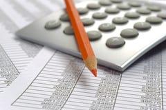 Cálculo de negocio de las finanzas Fotografía de archivo