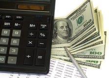 Cálculo del impuesto Foto de archivo libre de regalías