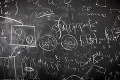 Cálculo desarrumado da matemática Fotografia de Stock Royalty Free