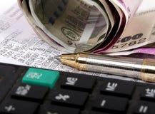 Cálculo do imposto fotografia de stock royalty free