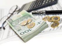 Cálculo do imposto. Fotos de Stock Royalty Free