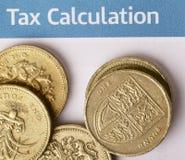 Cálculo do imposto Fotografia de Stock