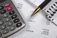 Cálculo do orçamento foto de stock