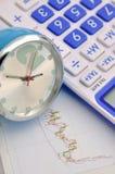 Cálculo e análise do estoque Fotografia de Stock Royalty Free