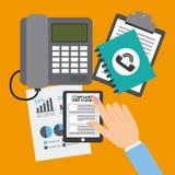 Cálculo financiero Imagen de archivo libre de regalías