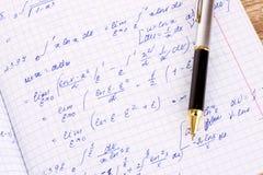 Cálculo matemático Imagen de archivo libre de regalías