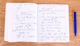 Cálculo matemático Imágenes de archivo libres de regalías