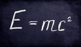 Cálculo na física no estilo retro. fotografia de stock
