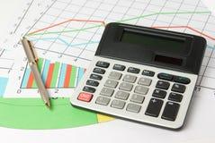 Cálculo y análisis de gráficos Foto de archivo