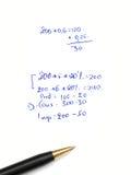 Cálculos Imágenes de archivo libres de regalías