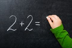 Cálculos básicos Fotografia de Stock