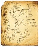 Cálculos de la vendimia imagenes de archivo