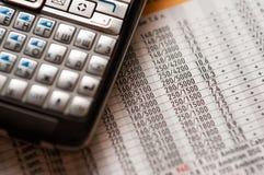 Cálculos de negócio Imagens de Stock