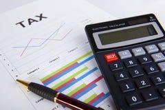 Cálculos del impuesto. Fotos de archivo libres de regalías