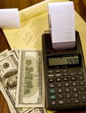 Cálculos do dinheiro Foto de Stock