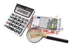 Cálculos econômicos. O orçamento. Imagens de Stock Royalty Free